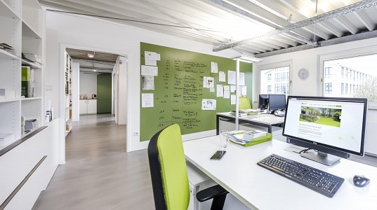 Umbauarbeiten –  Büroeinheit Eickhoff – Gärten mit Stil